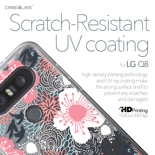 LG Q8 case Japanese Floral 2255 with UV-Coating Scratch-Resistant Case | CASEiLIKE.com