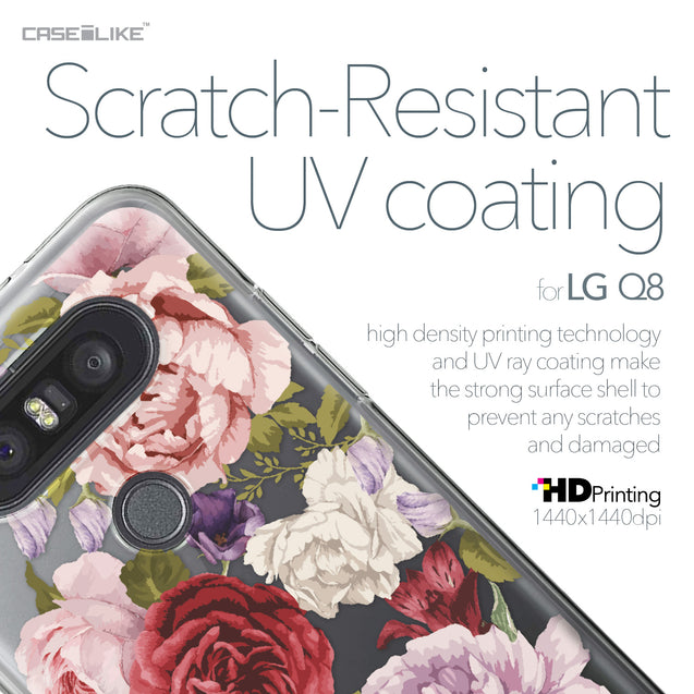 LG Q8 case Mixed Roses 2259 with UV-Coating Scratch-Resistant Case | CASEiLIKE.com