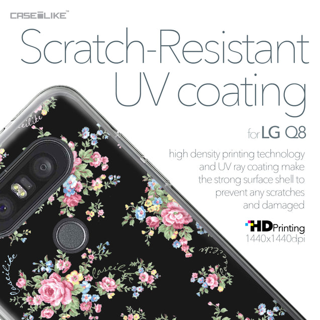LG Q8 case Floral Rose Classic 2261 with UV-Coating Scratch-Resistant Case | CASEiLIKE.com