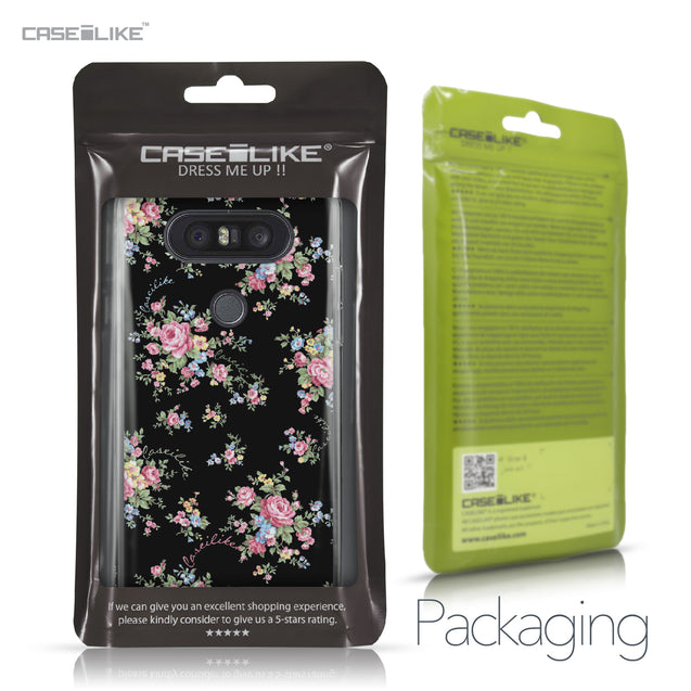 LG Q8 case Floral Rose Classic 2261 Retail Packaging | CASEiLIKE.com
