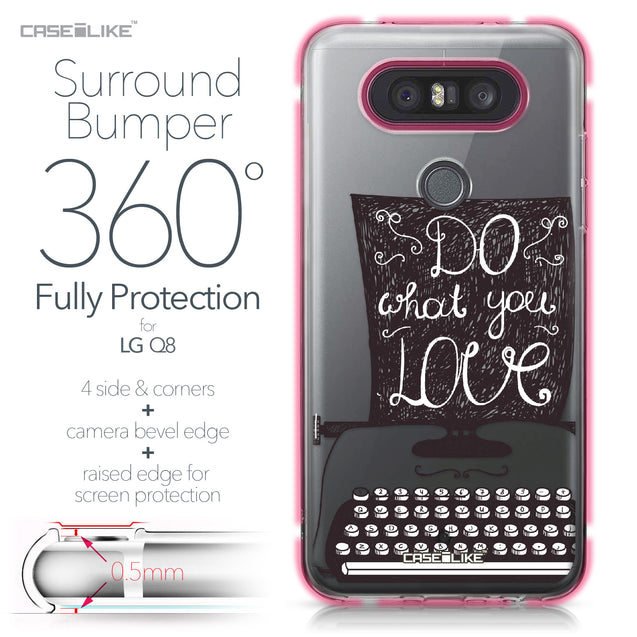 LG Q8 case Quote 2400 Bumper Case Protection | CASEiLIKE.com