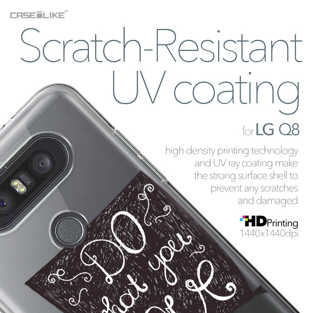 LG Q8 case Quote 2400 with UV-Coating Scratch-Resistant Case | CASEiLIKE.com