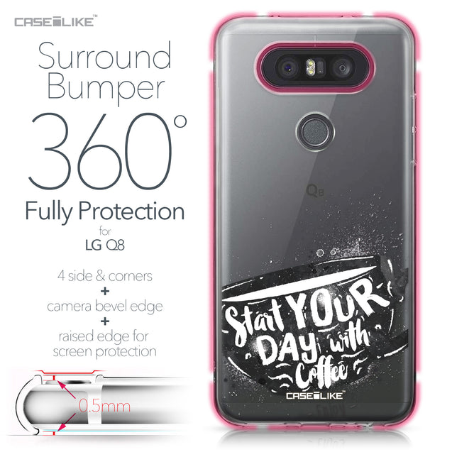 LG Q8 case Quote 2402 Bumper Case Protection | CASEiLIKE.com
