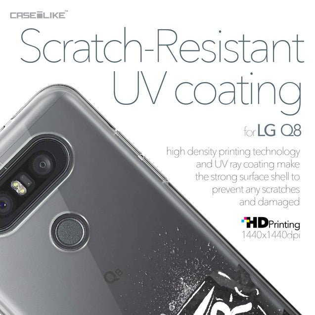 LG Q8 case Quote 2402 with UV-Coating Scratch-Resistant Case | CASEiLIKE.com