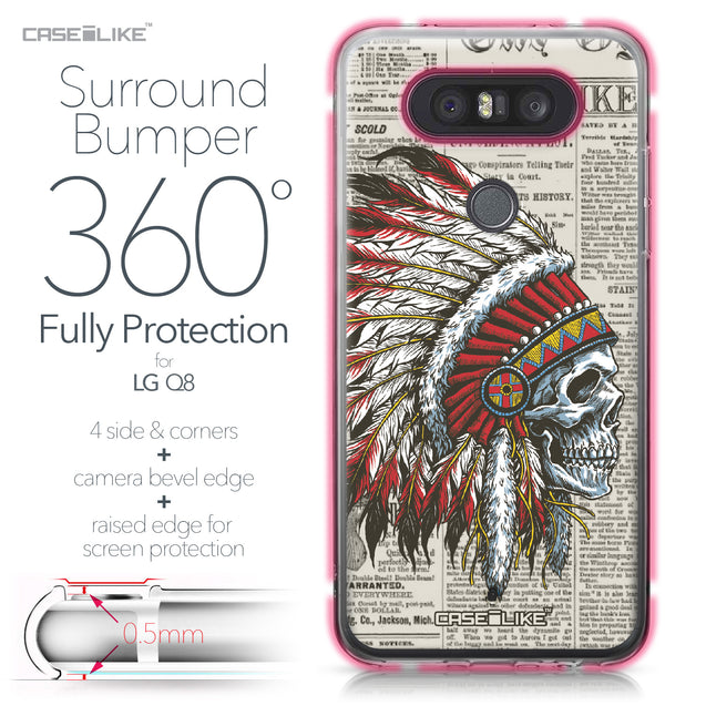 LG Q8 case Art of Skull 2522 Bumper Case Protection | CASEiLIKE.com