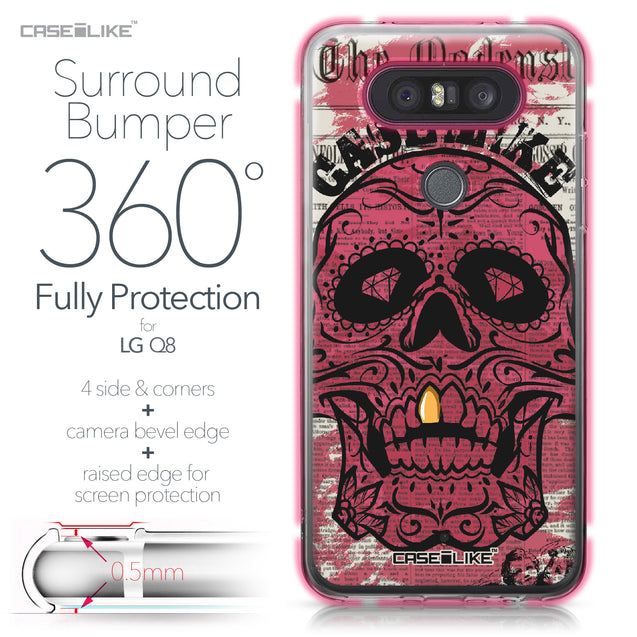 LG Q8 case Art of Skull 2523 Bumper Case Protection | CASEiLIKE.com