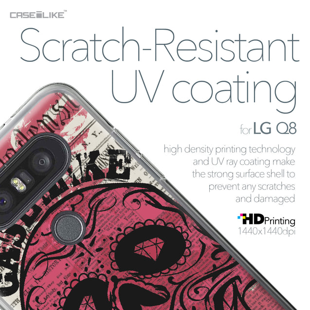 LG Q8 case Art of Skull 2523 with UV-Coating Scratch-Resistant Case | CASEiLIKE.com