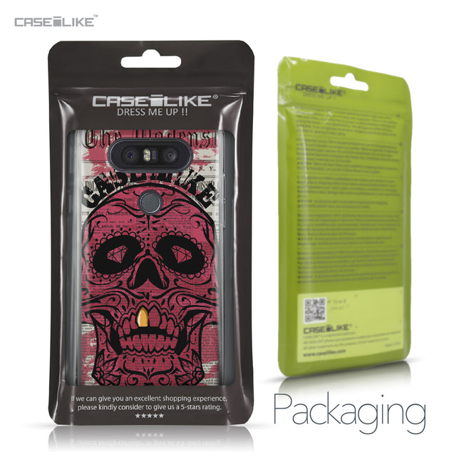 LG Q8 case Art of Skull 2523 Retail Packaging | CASEiLIKE.com