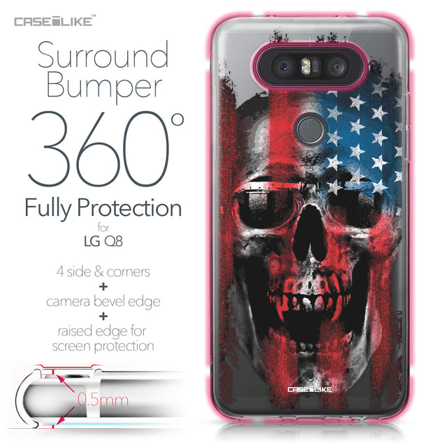 LG Q8 case Art of Skull 2532 Bumper Case Protection | CASEiLIKE.com