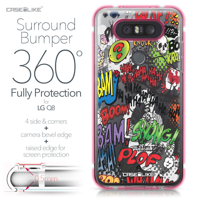 LG Q8 case Comic Captions 2914 Bumper Case Protection | CASEiLIKE.com