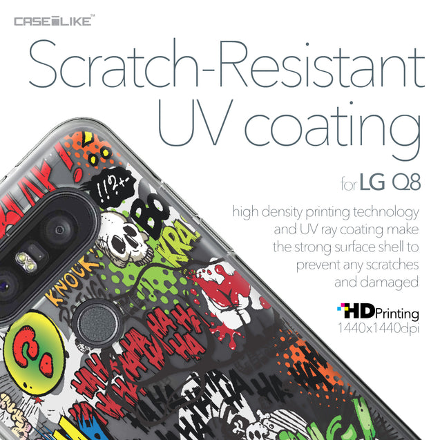 LG Q8 case Comic Captions 2914 with UV-Coating Scratch-Resistant Case | CASEiLIKE.com
