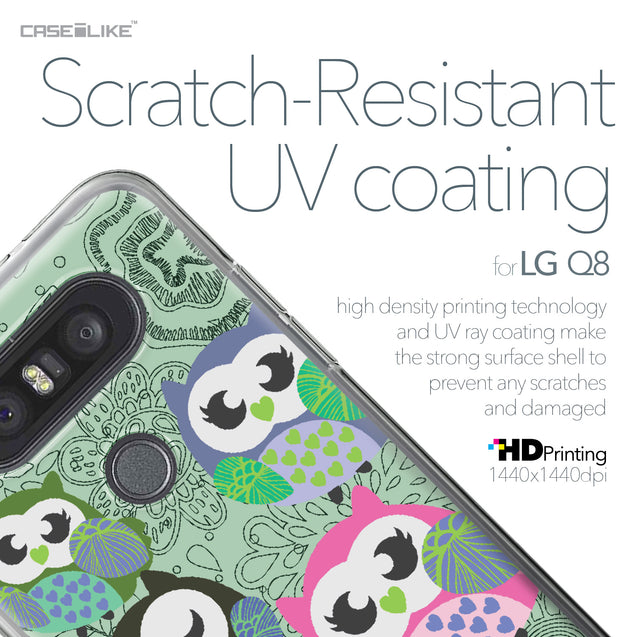 LG Q8 case Owl Graphic Design 3313 with UV-Coating Scratch-Resistant Case | CASEiLIKE.com