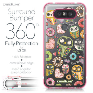 LG Q8 case Owl Graphic Design 3315 Bumper Case Protection | CASEiLIKE.com