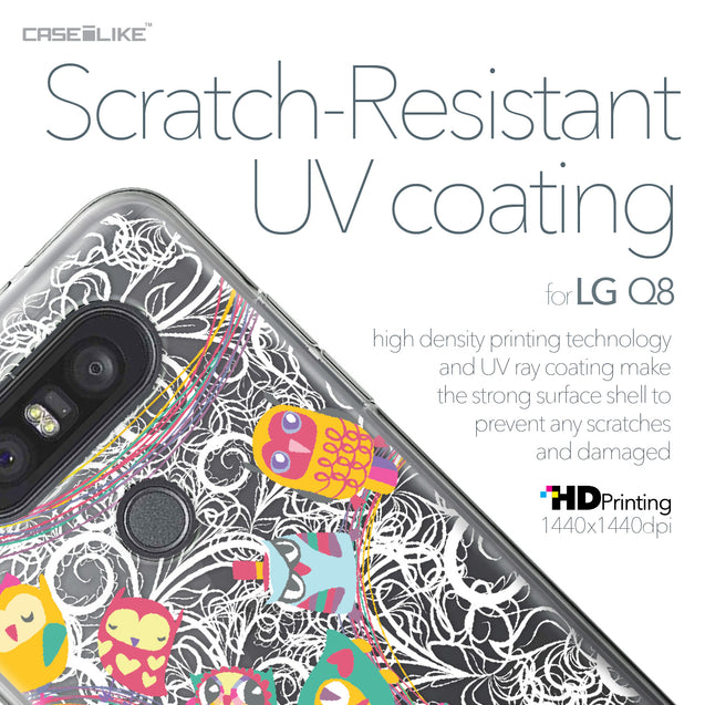 LG Q8 case Owl Graphic Design 3316 with UV-Coating Scratch-Resistant Case | CASEiLIKE.com