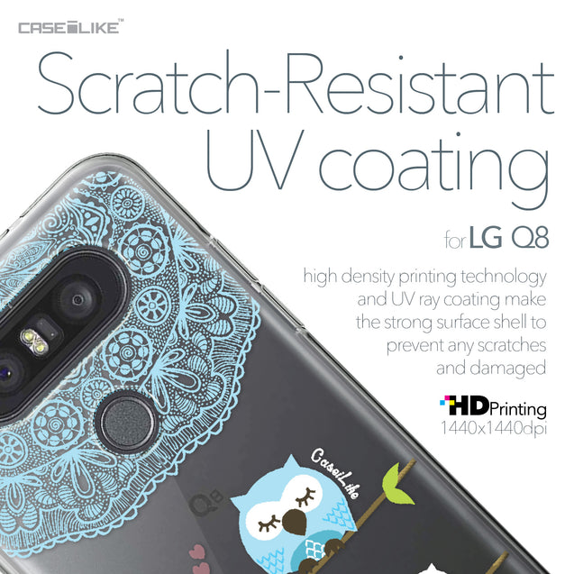 LG Q8 case Owl Graphic Design 3318 with UV-Coating Scratch-Resistant Case | CASEiLIKE.com