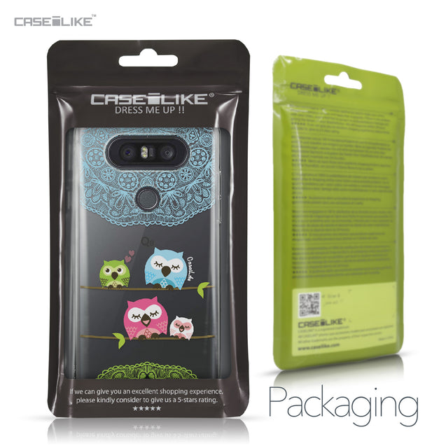 LG Q8 case Owl Graphic Design 3318 Retail Packaging | CASEiLIKE.com