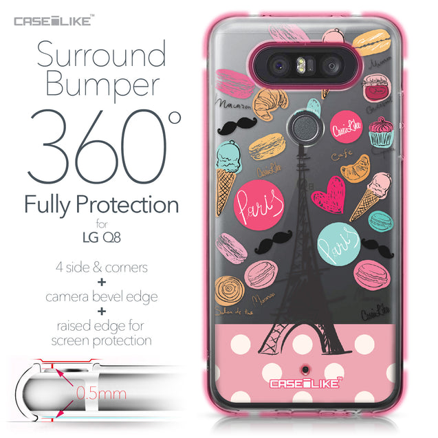 LG Q8 case Paris Holiday 3904 Bumper Case Protection | CASEiLIKE.com
