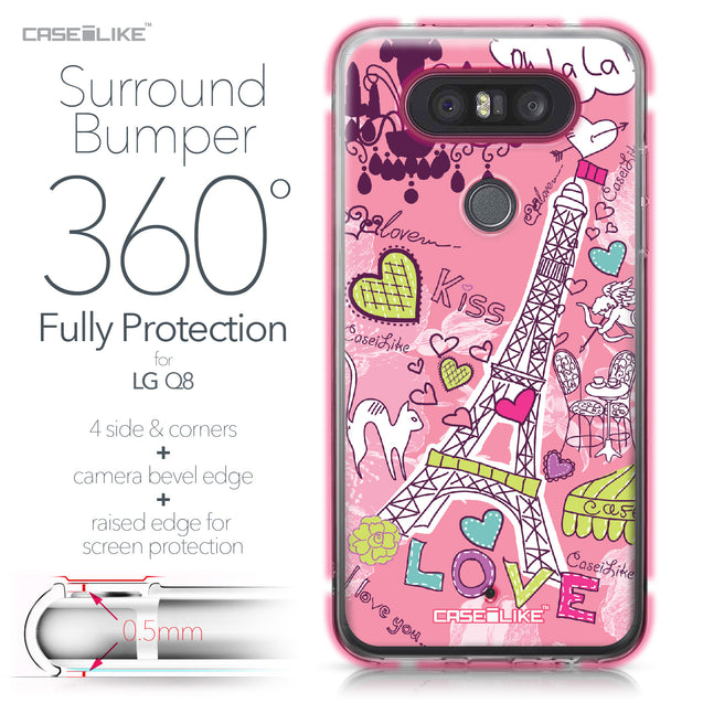 LG Q8 case Paris Holiday 3905 Bumper Case Protection | CASEiLIKE.com