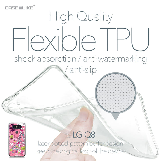 LG Q8 case Paris Holiday 3905 Soft Gel Silicone Case | CASEiLIKE.com