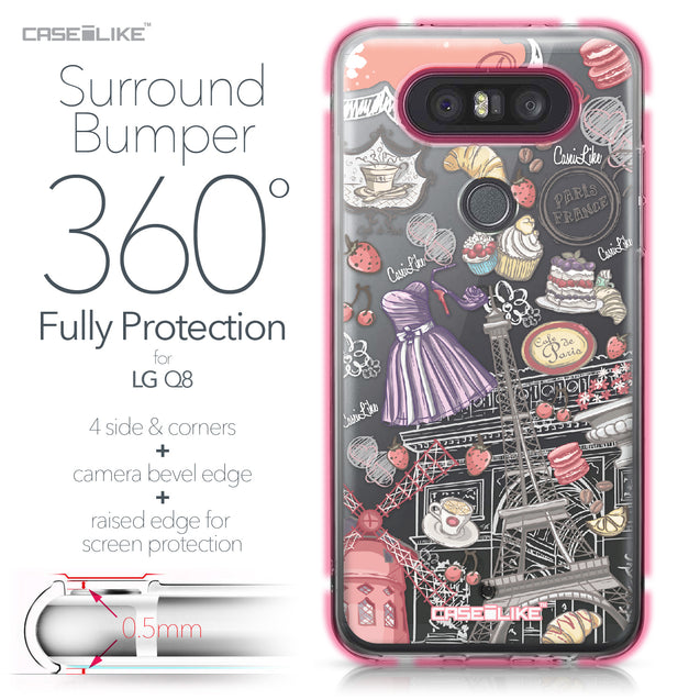 LG Q8 case Paris Holiday 3907 Bumper Case Protection | CASEiLIKE.com