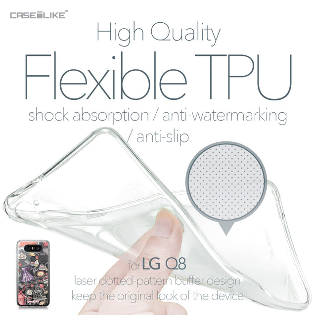 LG Q8 case Paris Holiday 3907 Soft Gel Silicone Case | CASEiLIKE.com