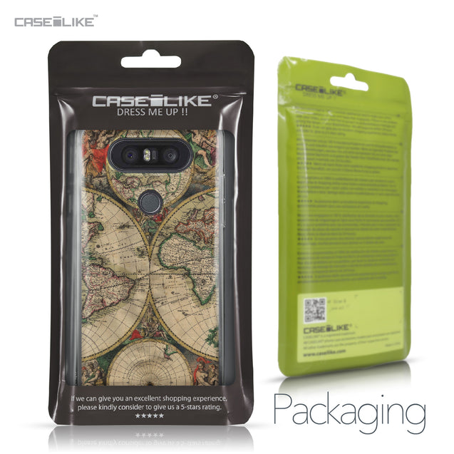 LG Q8 case World Map Vintage 4607 Retail Packaging | CASEiLIKE.com