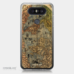 LG Q8 case World Map Vintage 4608 | CASEiLIKE.com