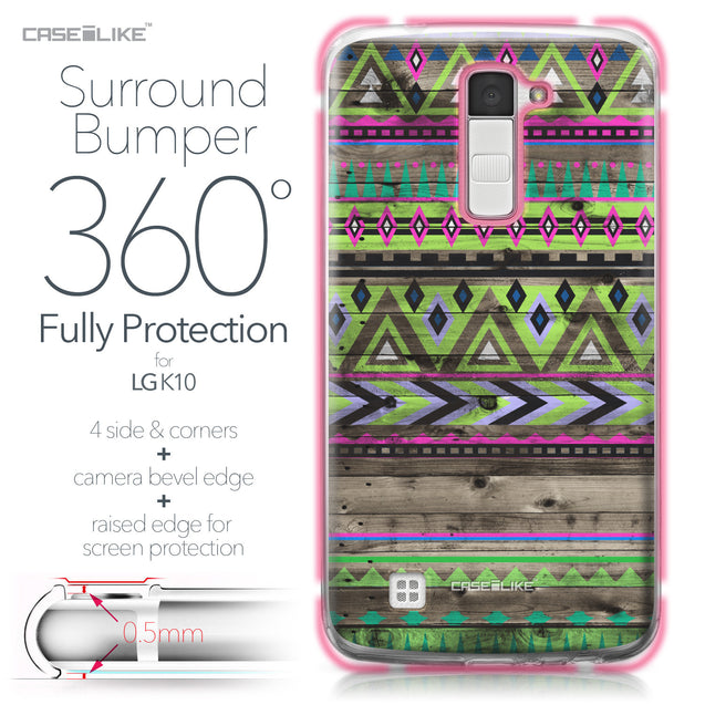LG K10 case Indian Tribal Theme Pattern 2049 Bumper Case Protection | CASEiLIKE.com