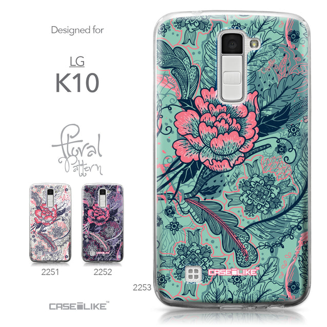 LG K10 case Vintage Roses and Feathers Turquoise 2253 Collection | CASEiLIKE.com