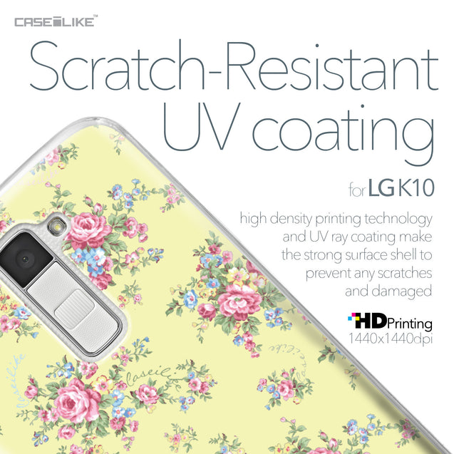 LG K10 case Floral Rose Classic 2264 with UV-Coating Scratch-Resistant Case | CASEiLIKE.com