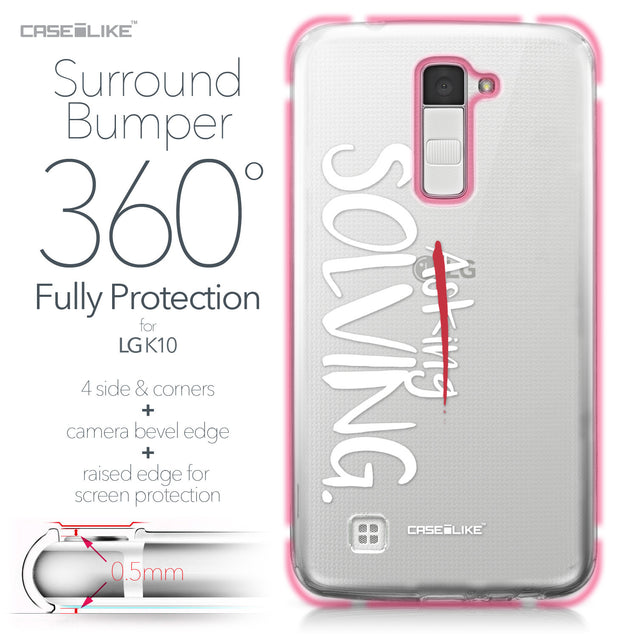 LG K10 case Quote 2412 Bumper Case Protection | CASEiLIKE.com