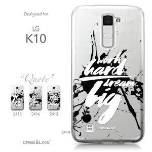 LG K10 case Quote 2414 Collection | CASEiLIKE.com
