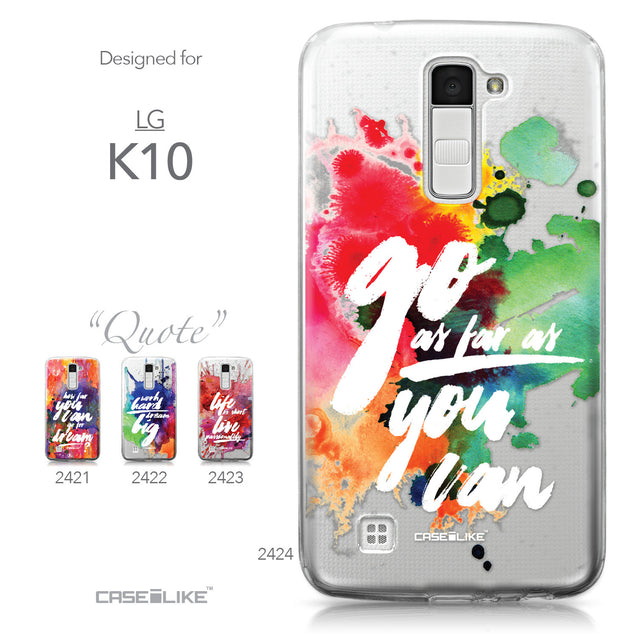 LG K10 case Quote 2424 Collection | CASEiLIKE.com