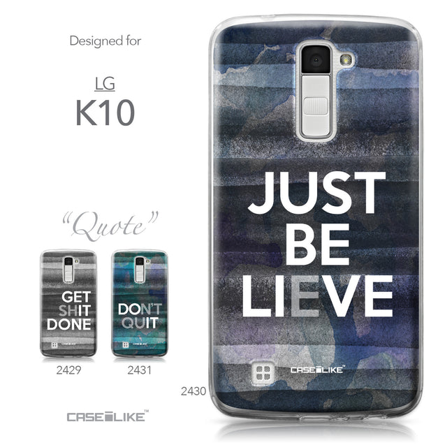 LG K10 case Quote 2430 Collection | CASEiLIKE.com