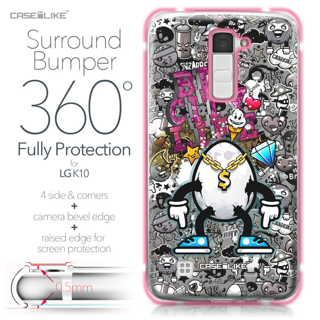 LG K10 case Graffiti 2704 Bumper Case Protection | CASEiLIKE.com