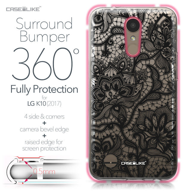 LG K10 2017 case Lace 2037 Bumper Case Protection | CASEiLIKE.com
