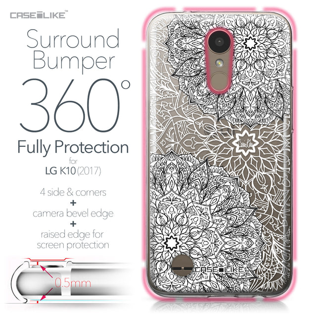 LG K10 2017 case Mandala Art 2093 Bumper Case Protection | CASEiLIKE.com