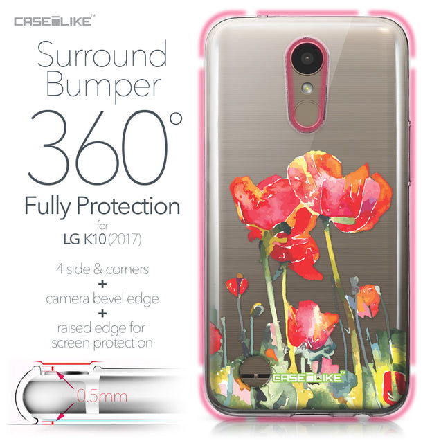 LG K10 2017 case Watercolor Floral 2230 Bumper Case Protection | CASEiLIKE.com
