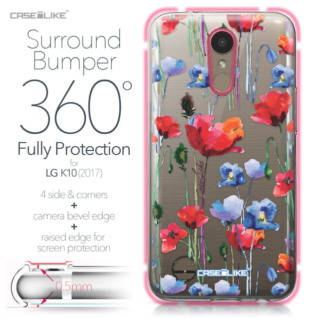 LG K10 2017 case Watercolor Floral 2234 Bumper Case Protection | CASEiLIKE.com