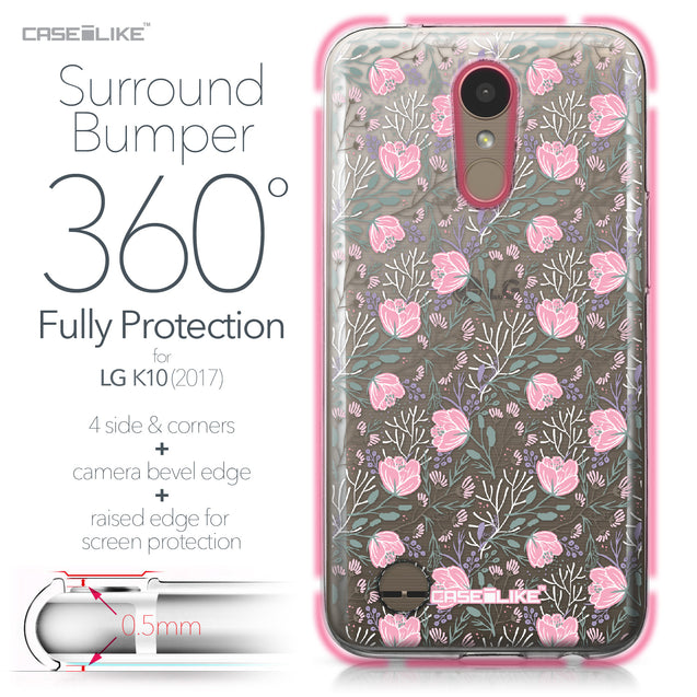 LG K10 2017 case Flowers Herbs 2246 Bumper Case Protection | CASEiLIKE.com