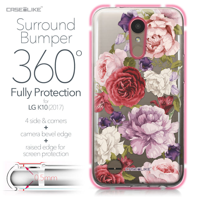 LG K10 2017 case Mixed Roses 2259 Bumper Case Protection | CASEiLIKE.com