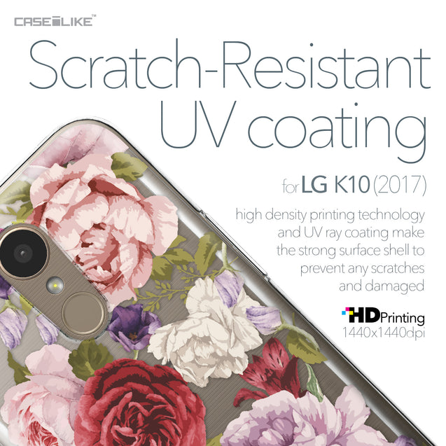 LG K10 2017 case Mixed Roses 2259 with UV-Coating Scratch-Resistant Case | CASEiLIKE.com