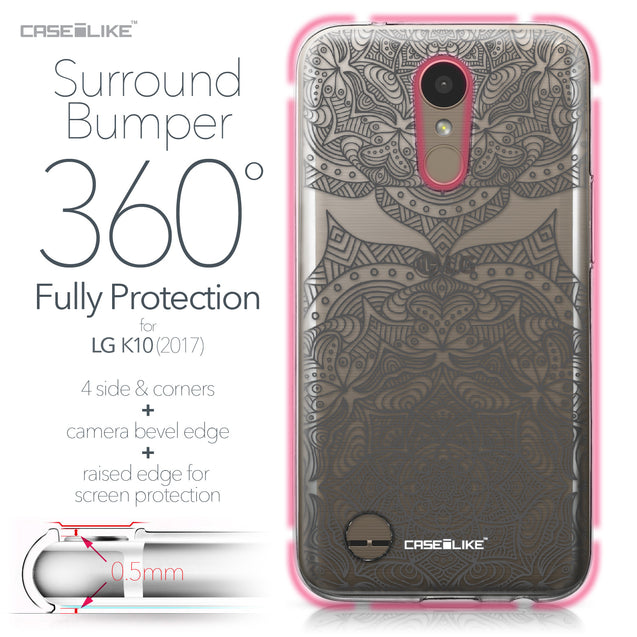 LG K10 2017 case Mandala Art 2304 Bumper Case Protection | CASEiLIKE.com