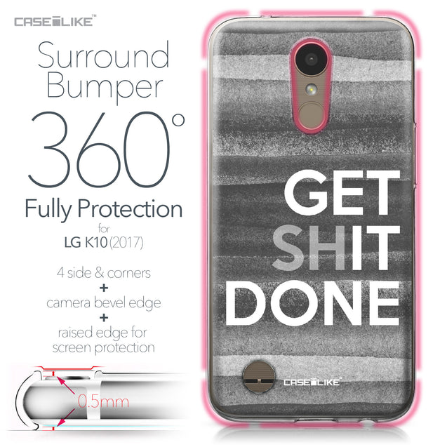LG K10 2017 case Quote 2429 Bumper Case Protection | CASEiLIKE.com