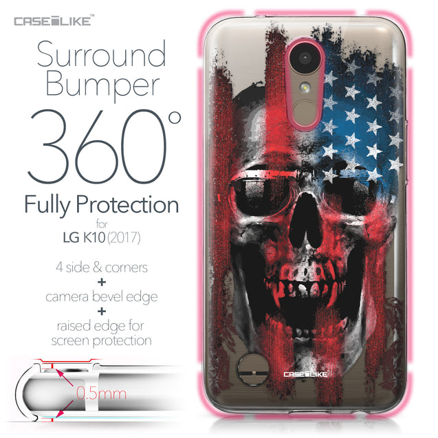 LG K10 2017 case Art of Skull 2532 Bumper Case Protection | CASEiLIKE.com