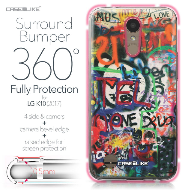 LG K10 2017 case Graffiti 2721 Bumper Case Protection | CASEiLIKE.com