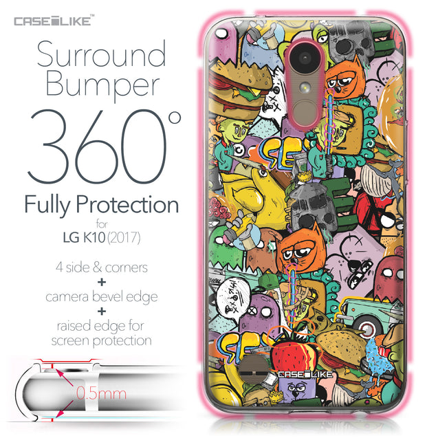 LG K10 2017 case Graffiti 2731 Bumper Case Protection | CASEiLIKE.com