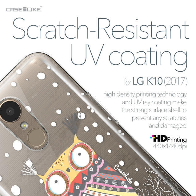 LG K10 2017 case Owl Graphic Design 3317 with UV-Coating Scratch-Resistant Case | CASEiLIKE.com