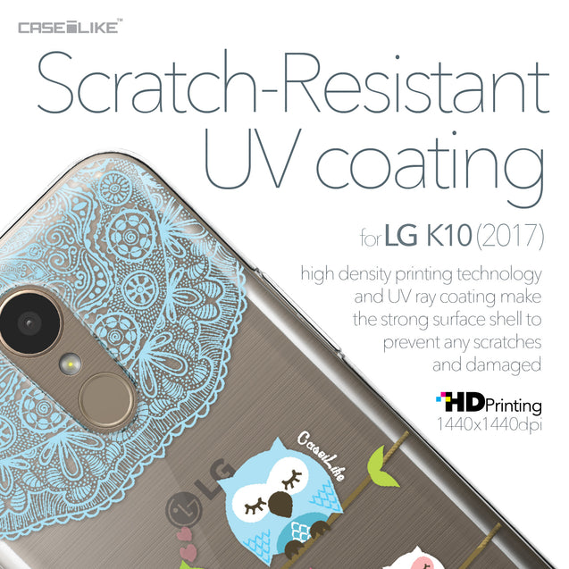 LG K10 2017 case Owl Graphic Design 3318 with UV-Coating Scratch-Resistant Case | CASEiLIKE.com