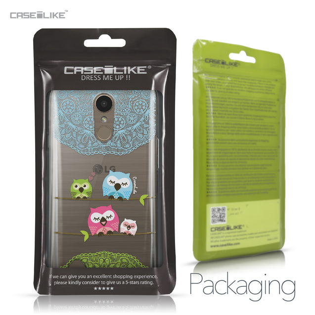 LG K10 2017 case Owl Graphic Design 3318 Retail Packaging | CASEiLIKE.com